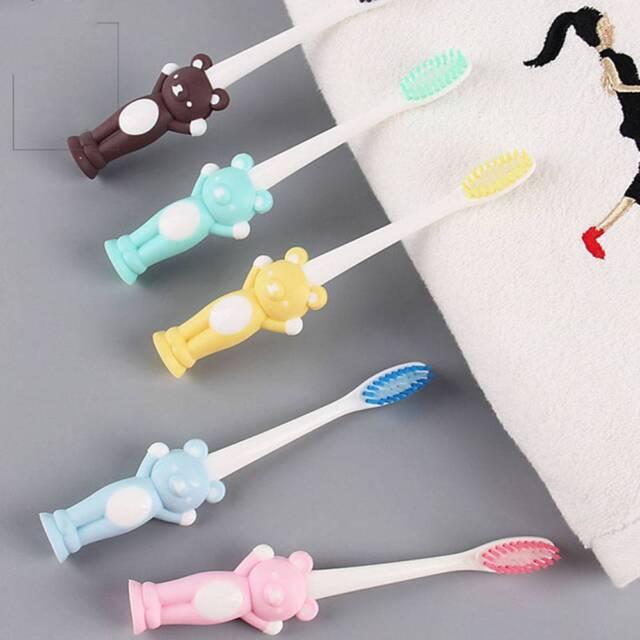 4 pcs/set Baby Dental Care Soft-bristled Training Toothbrush Teeth Cartoon Bear