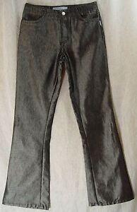 Shimmering-BLACK-Sharkskin-HOLLYWOOD-FLARE-Mid-Rise-JOE-S-JEANS-034-Denim-034-Pants-5