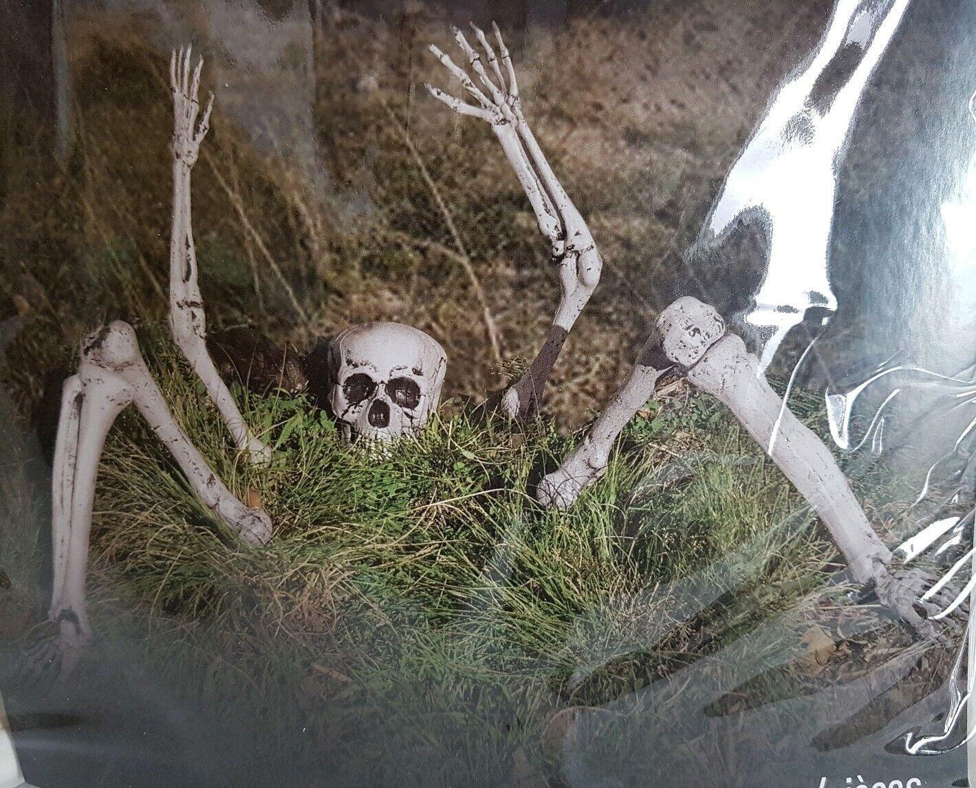 Halloween Tombstone Props Graveyard Spooky Skeleton Outdoor Decorations