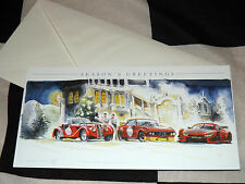 BMW 3.0 CSL - BMW M4 DTM & BMW 328 NEW ART PRINT CHRISTMAS GREETINGS GIFT CARD