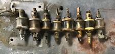 Antique Hit Miss Engine Brass Oiler Lot Steam Parts Lot
