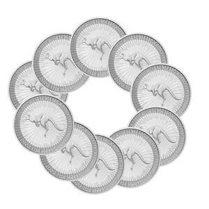 10x1-oz-Silber-Kaenguru-2020-1-Dollar-Australien-Stempelglanz-Silbermuenze-999-9