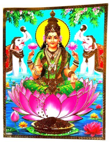 BILD LAXMI Lakshmi Hinduismus Prägedruck INDIEN Poster Vorlage Tattoo 189
