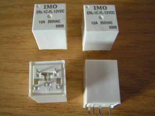 IMO ERL-1C-FL-12VDC Coil Relay SPNO 10A 250VAC I48 4 pieces MBC008a