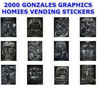 Gonzales Art 2000 Vending Machine Homies 12 Stickers Set 2.5 X 3.5 You Pick