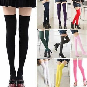 Girls-Japanese-Stripes-Thigh-High-Stocking-JK-School-Over-Knee-Socks-New