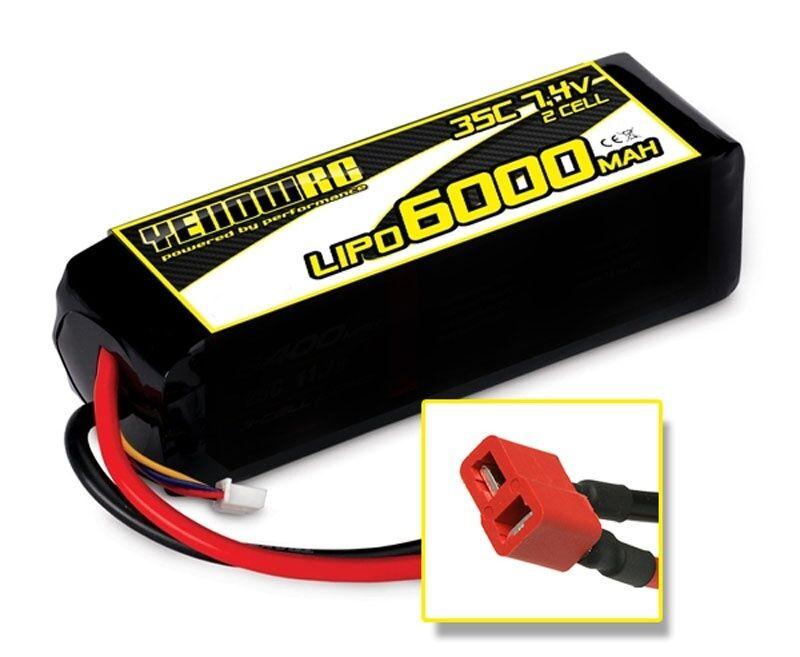 YellowRC LiPo 6000mAh 7.4V 2S35C, HPI Deans - YEL2843D