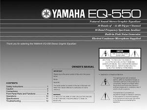 yamaha eq 550 equalizer owners manual ebay