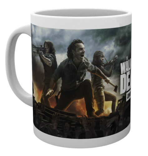 300 ML Mug Céramique The Walking Dead Daryl Dixon Rick Grymes Michonne Fire 10 oz environ 283.49 g