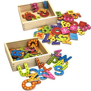 78x Buchstaben oder Zahlen ABC Magnet Buchstaben Alphabet Kinder Spielzeug Neu