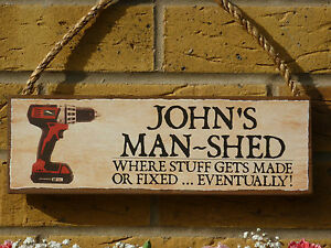 PERSONALISED-SHABBY-CHIC-OUTDOOR-SIGN-WEATHERPROOF-SIGN-GARDEN-SIGN-FUNNY-PLAQUE