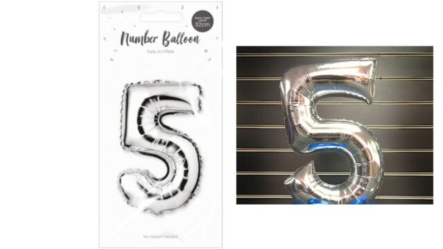 32 CM SILVER FOIL BALLOON NUMBERS Air Helium Banner Birthday Party Age GM2770 UK