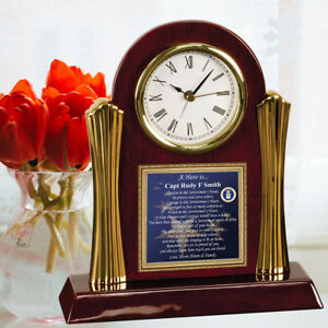 Details about Air Force Retirement Gift Clock Personalized USAF Present  Promotion Homecoming