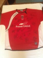 ACCRINGTON STANLEY 2006-2007 REPLICA HOME SHIRT ORIG HAND SIGNED 19 X SIGNATURES