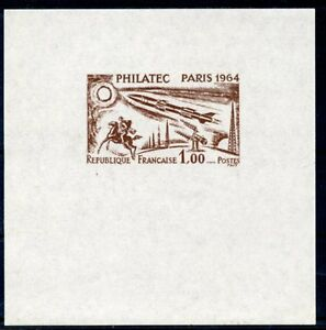 STAMP-TIMBRE-FRANCE-NEUF-N-1422-PHILATEC-1964-FAUX-NON-DENTELLE