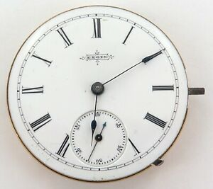 NICE-DIAL-1888-ELGIN-6S-7J-LEVER-SET-POCKET-WATCH-MOVEMENT-amp-DIAL