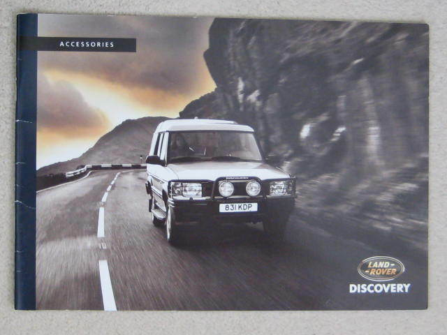 1994 / 1995  LAND ROVER DISCOVERY ACCESSORIES BROCHURE                   STC8839