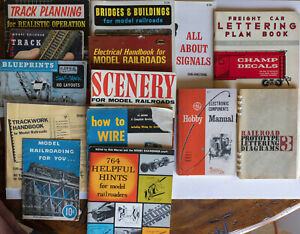 * Lot of 14 Model Railroad Books Track Planning Wiring Lettering Scenery