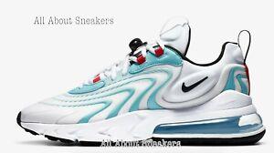 Nike-Air-Max-270-reaccionar-Eng-034-Blanco-Bleach-034-Hombre-Zapatillas-Limited-Stock-Todos-Los
