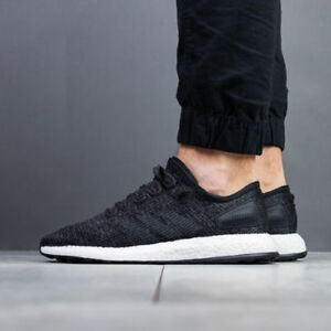 Uk Shoes 8 Men's Black Running Casual Walking Cycling Gym Adidas Pureboost Wear N0wyOvm8nP
