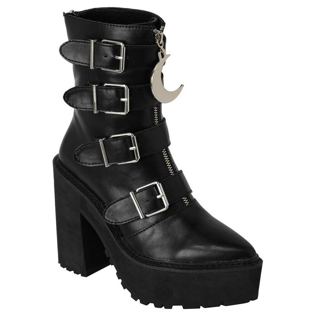 Killstar Killstar Killstar Gothic ocultismo punk botines plataforma botas-Sorceress botas Luna  alta calidad