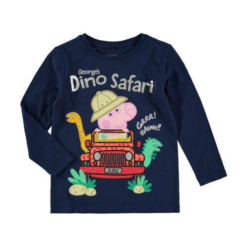 Peppa Pig George/'s Dino Safari  Boys//Girls t shirt top long sleeve New with tags