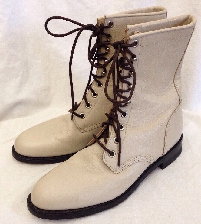 Women's Justin Western Victorian  Boots Prairie Granny Lace-Up Style Size 6.5 B