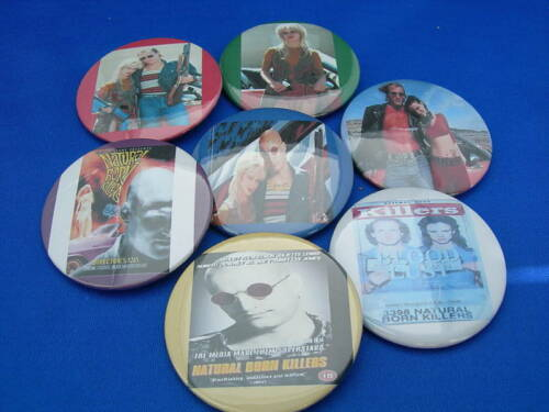 NATURAL BORN KILLERS Lot of 7 Pins Buttons pinback  movie film  WOODY HARRELSON