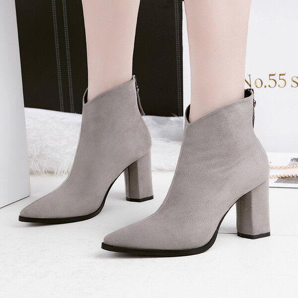 stivali stivaletti bassi scarpe caviglia grigio 10 cm eleganti simil pelle 9674