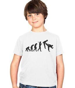 Evolution Der Kampfsport Karate Judo Taekwondo Kinder T Shirt Ages