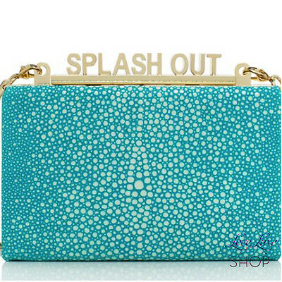 Kate Spade Splash Out Ravi Clutch Leather Bag Purse Madison Ave Pool Beach Water