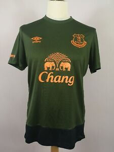 Everton-FC-2015-2016-UMBRO-TERZA-FOOTBALL-SHIRT-Chang-Verde-Uomo-Medium-RARE