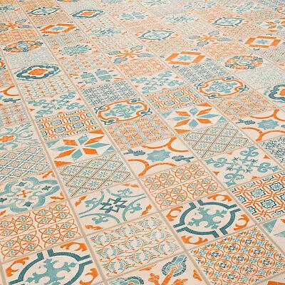 Muster DIN A4 28,95 /€ p. m/² Klick Vinyl Tarkett Starfloor Click 30 Retro Orange Blue
