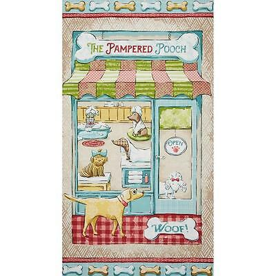 PAMPERED POOCH BEAUTY SALON BY SPX FABRICS COTTON FABRIC FH-3646 BY THE PANEL