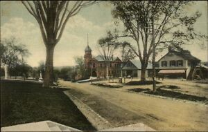 Watertown-CT-Town-Hall-amp-Post-Office-c1910-Postcard