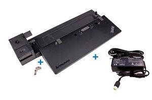 Lenovo-ThinkPad-Dockingstation-40A1-04W3948-Netzteil-mit-Schluessel-fuer-X250
