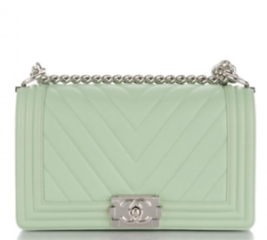 92d4adf4fd1b Image is loading CHANEL-Boy-Chevron-Quilted-Calfskin-Medium-Mint-Green-