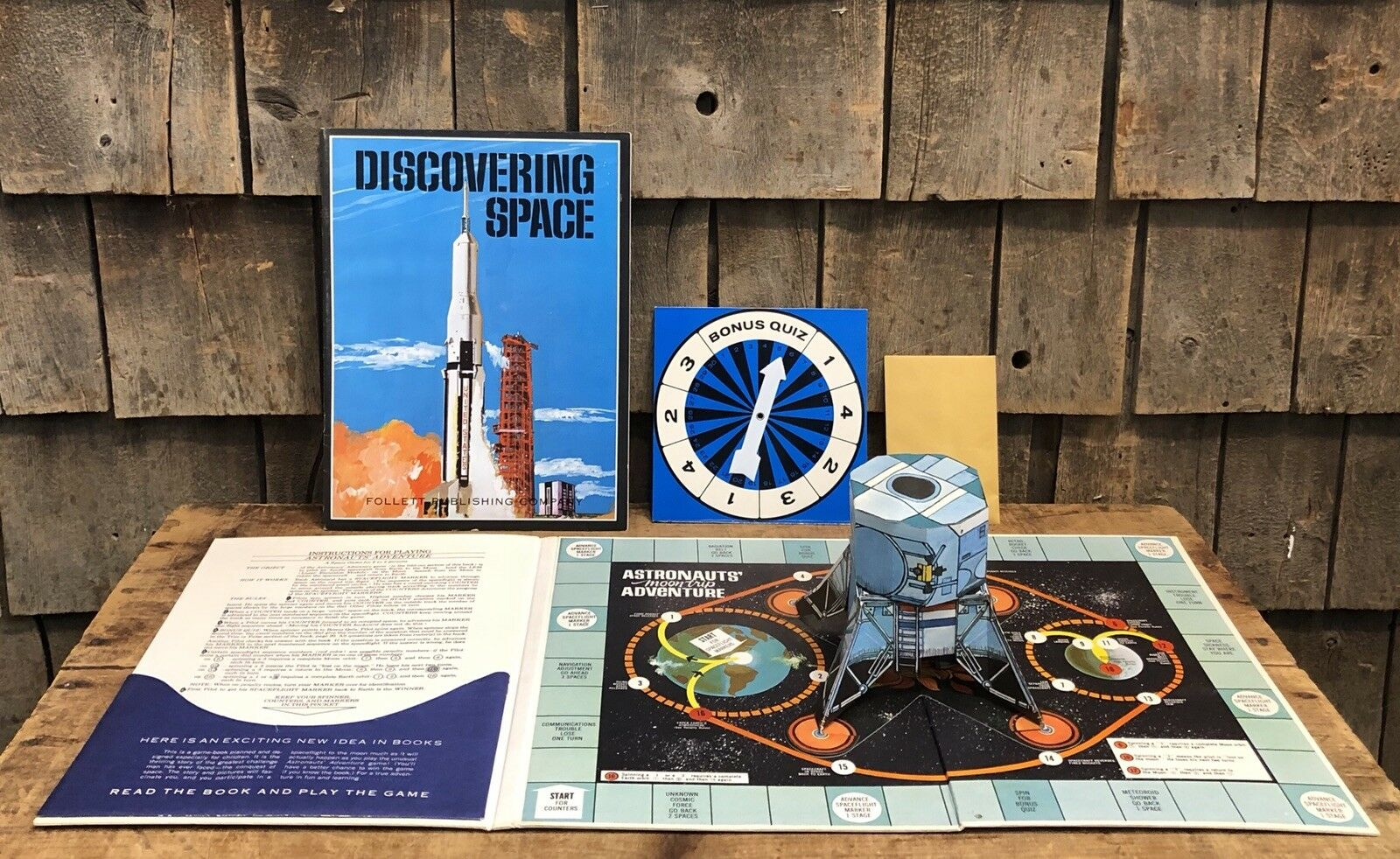 Vintage Discovering Space Game Book Follett Publishing Co Learn By Discovery
