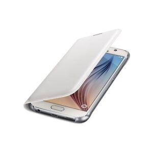 Samsung-Caso-Original-Flip-Monedero-Cover-Piel-sintetico-Blanca-para-Galaxy-S6