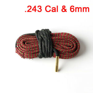 G10 Bore Snake Cleaner Maintain Gun Rifle Cleaning Kit: 243 Cal & 6mm,