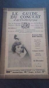 Revista-Le-Guia-de-La-Concierto-Y-Las-Sketches-Letra-1931-N-10-J-Roussel
