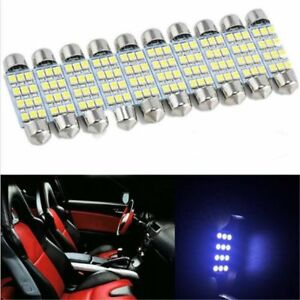 10x 3528 12 Smd Led Auto Car Interior Festoon Dome Bulbs Lamp Light Dc 12v 41mm Accessories Atv,rv,boat & Other Vehicle