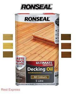 Details about Ronseal Ultimate Protection Decking Oil,  Natural-Oak-Cedar-Pine-Teak, 5 Litre 5L