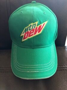 c222e60c2 Details about MOUNTAIN DEW Adjustable Baseball Cap Hat Mtn Soda Pop Cotton  One Size Pepsi Co