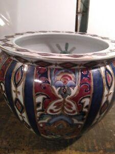 Details About Large Chinese Porcelain Fish Bowl Planter Koi Vase Jardiniere