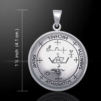 Sigil Of Archangel Michael Sterling Silver Pendant By Peter Stone Fine Jewelry