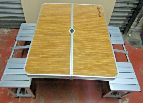 GARDEN OUTDOOR PICNIC CAMPING FOLDING PORTABLE 4 CHAIR TABLE SET