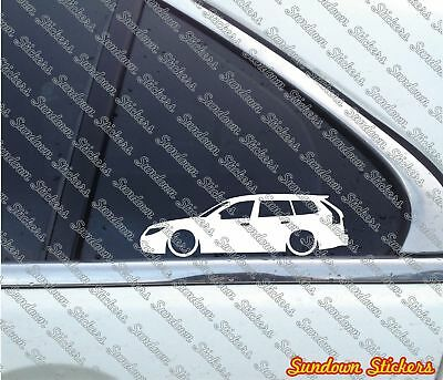 2X Lowered car outline stickers for Saab 9-3 SportWagon FACELIFT SportCombi