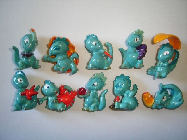 KINDER SURPRISE SET - DROLLY DINOS DINOSAURS 1993 - FIGURES COLLECTIBLES XMAS