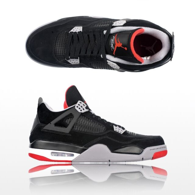 promo code 56ba8 c7e15 Mens 2012 Nike Air Jordan IV 4 Retro Black cement Grey 308497-089 Sz 11 Bred